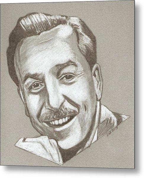 Walt Disney Drawing Metal Print
