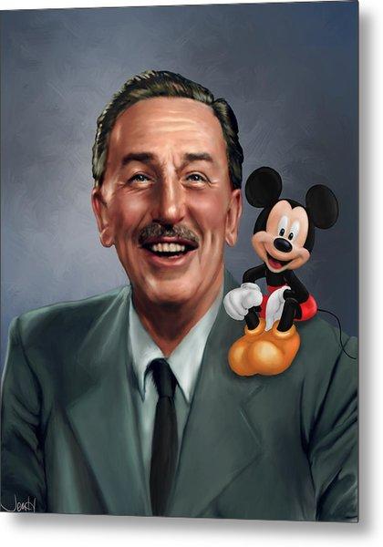 Walt Disney Mickey Mouse Partners Metal Print