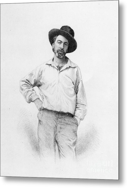 Walt Whitman Frontispiece To Leaves Of Grass Metal Print