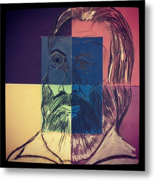 Walt Whitman In Color Metal Print by Nickolas Kossup