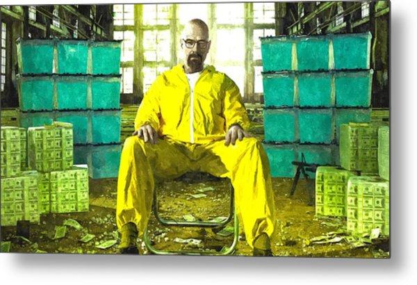 Walter White As Heisenberg Painting Metal Print