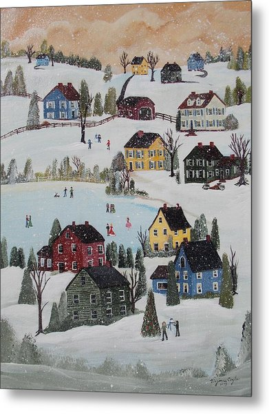 Waltzing Snow Metal Print