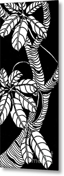 Wandering Leaves Octopus Tree Design Metal Print