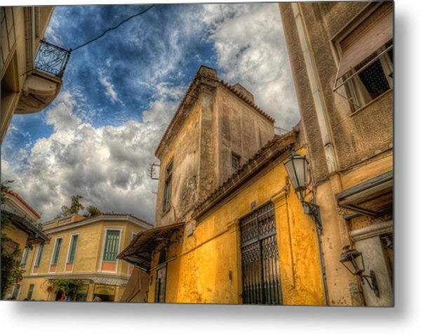 Wandering The Streets Of Athens Metal Print