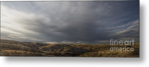Waning Light On The Hills Of South Dakota Metal Print