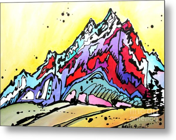 Waning Seasons In The Tetons Metal Print