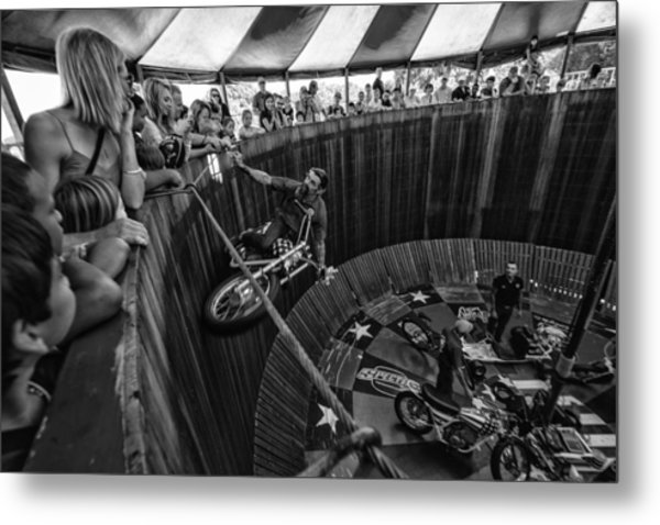 Wall Of Death Metal Print