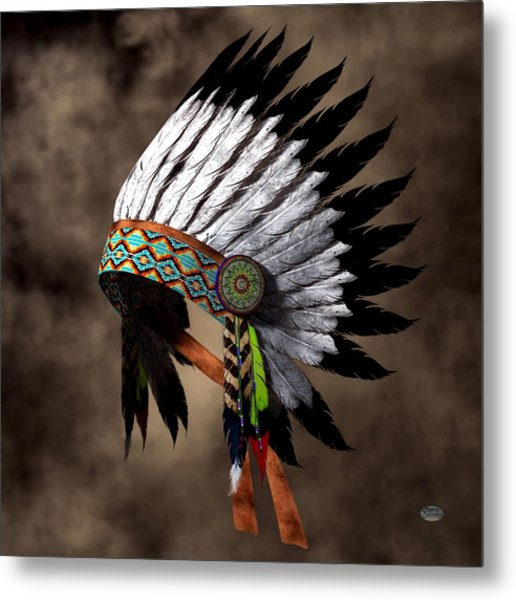War Bonnet Metal Print