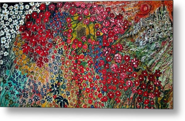 War Of Flowers Metal Print by Matthew  James