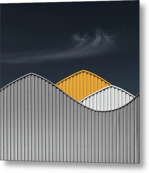 Warehouses Metal Print