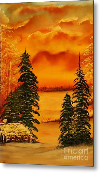 Warm Snow-original Sold- Buy Giclee Print Nr 34 Of Limited Edition Of 40 Prints  Metal Print