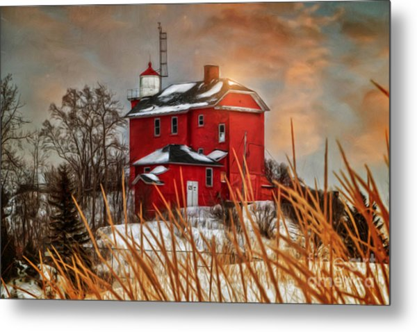 Warming By The Sun Metal Print by Upper Peninsula Photography