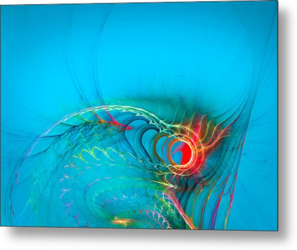 Warming Up The Blues Metal Print