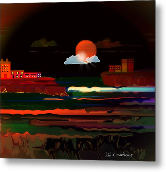 Warmth Of The Orange Metal Print by Jan Steadman-Jackson