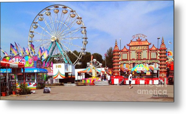 Warren County A And L Fair Midway Metal Print by   Joe Beasley
