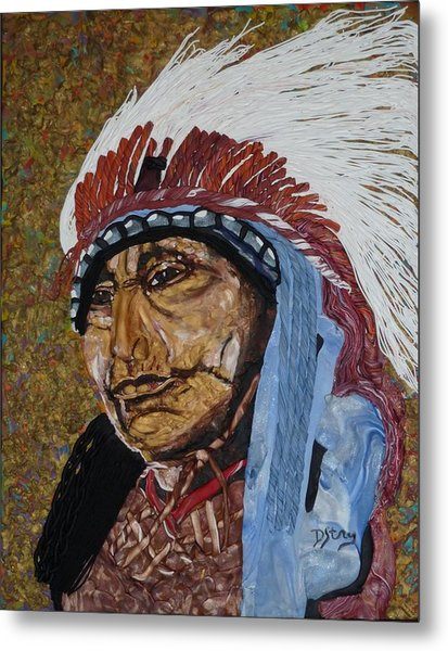 Warrior Chief Metal Print