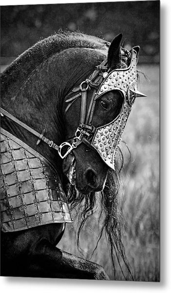 Warrior Horse Metal Print