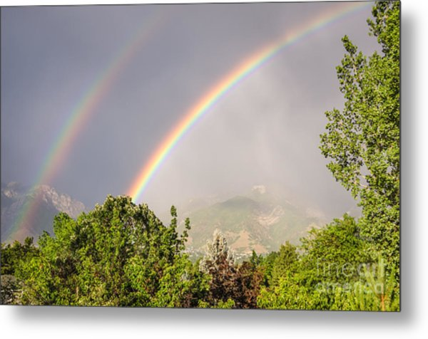 Wasatch Rainbow Metal Print