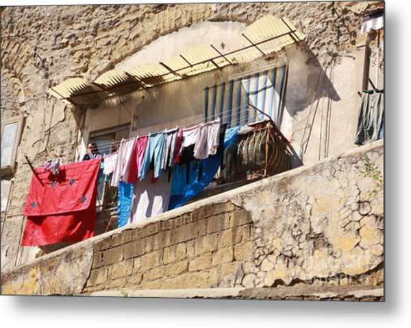 Wash Day The Old Way Metal Print