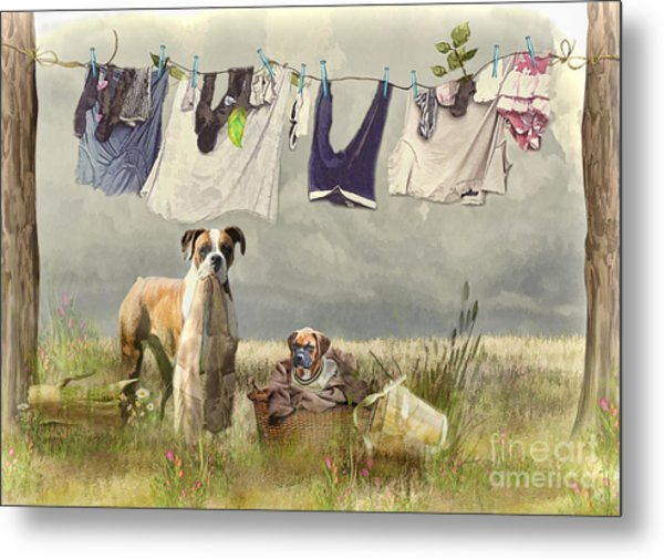 Wash Day Metal Print
