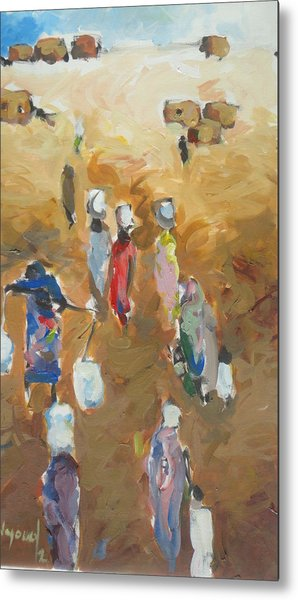 Washing Day 2 Metal Print by Negoud Dahab