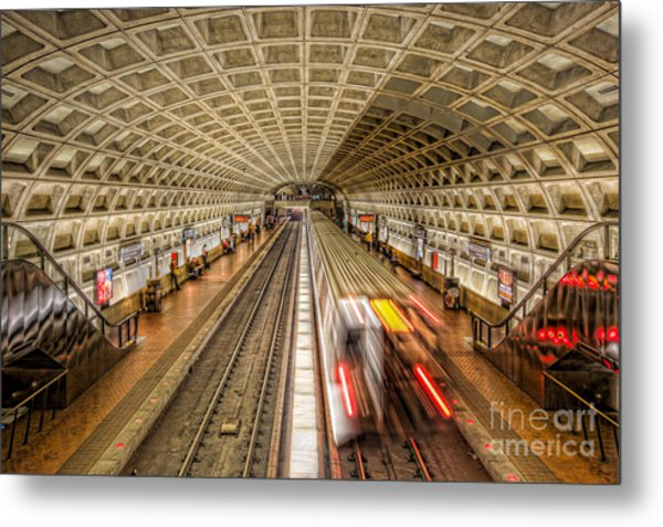 Washington Dc Metro Station Xi Metal Print