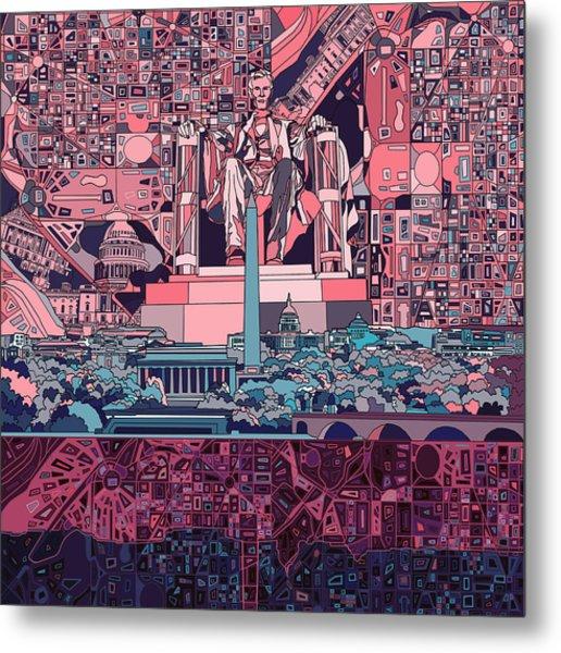 Washington Dc Skyline Abstract 2 Metal Print