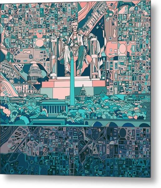 Washington Dc Skyline Abstract 5 Metal Print