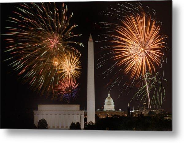 Washington Fireworks Metal Print
