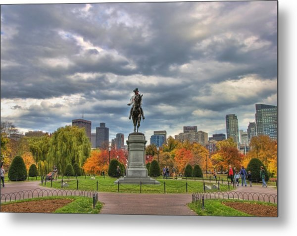 Washington In The Public Garden Metal Print