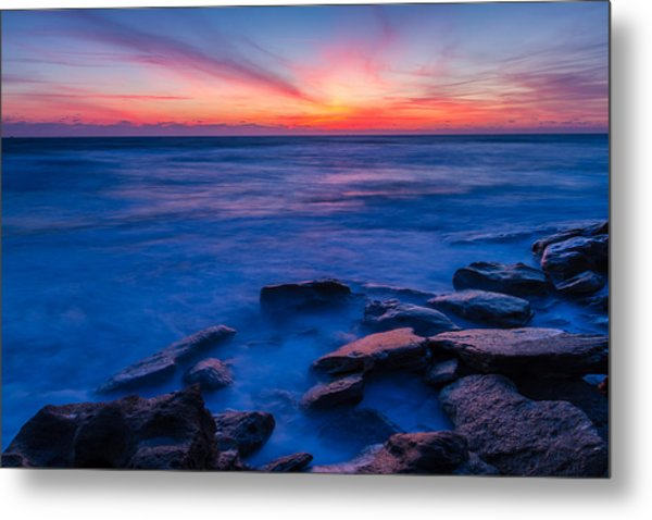 Washington Oaks Twilight Metal Print