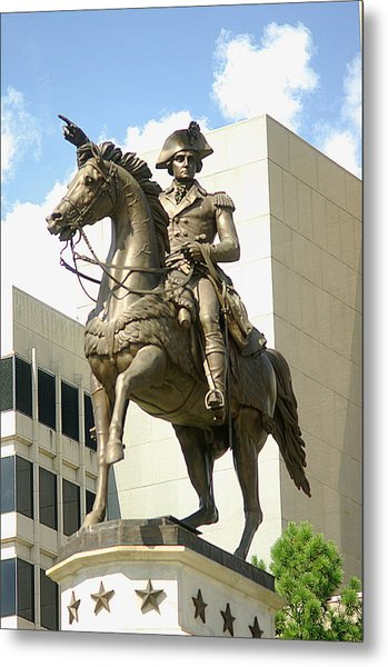 Washington On His Horse Metal Print