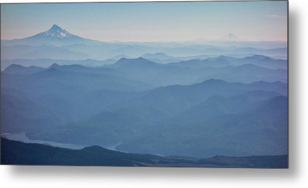 Washington View From Mount Saint Helens Metal Print