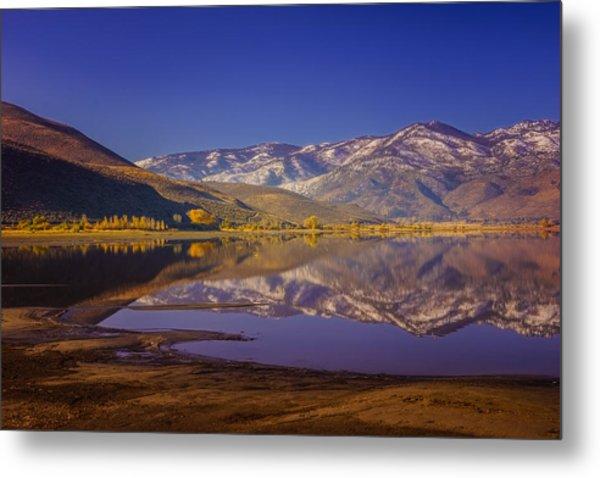 Washoe Lake In Late Fall Metal Print