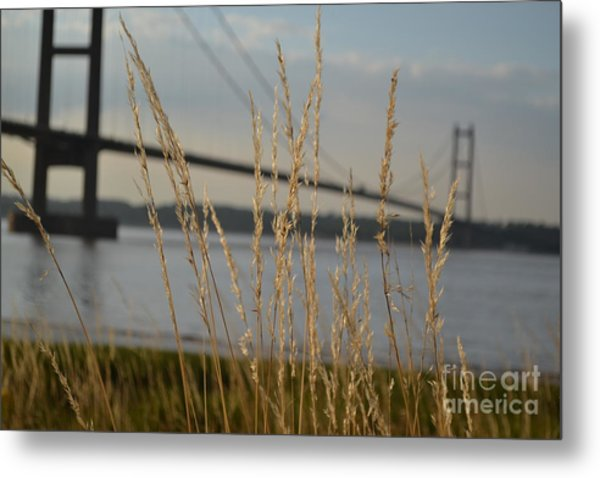 Wasting Time By The Humber Metal Print