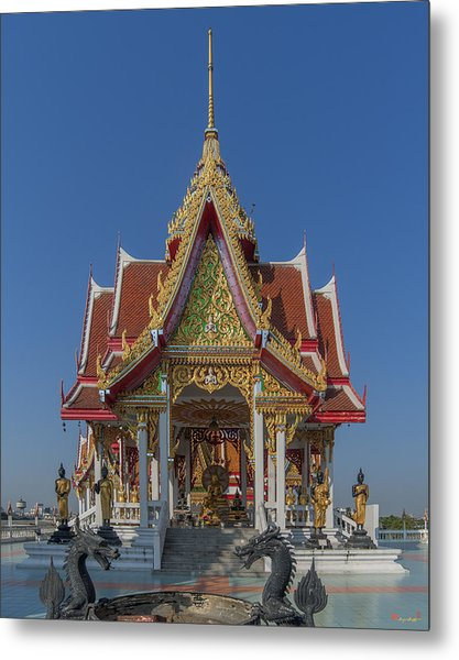 Wat Bukkhalo Central Roof-top Pavilion Dthb1809 Metal Print