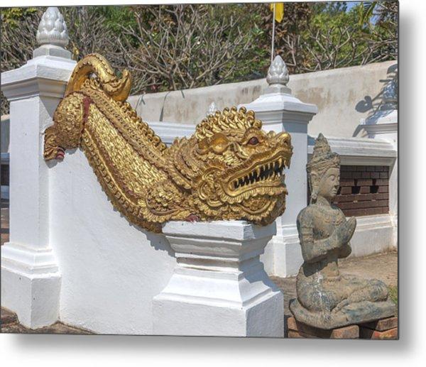 Wat Chedi Liem Phra Ubosot Gate Makara Dthcm0836 Metal Print