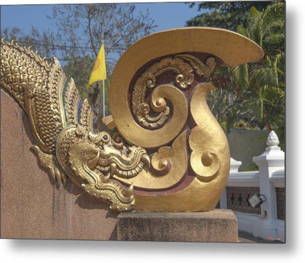 Wat Chedi Liem Phra Ubosot Makara And Stylized Naga Dthcm0838 Metal Print