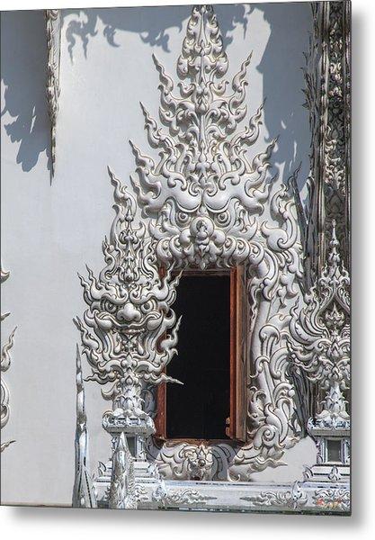 Wat Rong Khun Ubosot Window Dthcr0042 Metal Print
