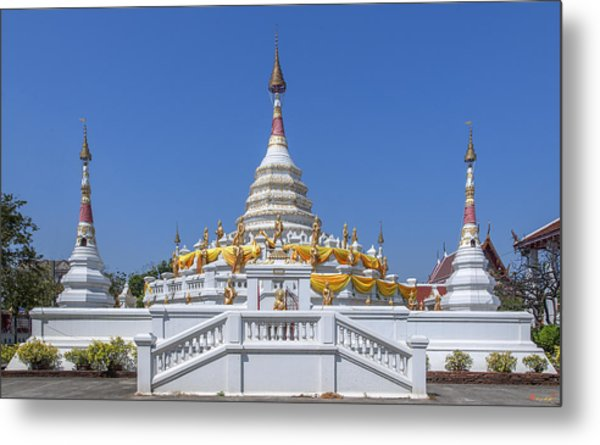 Wat Songtham Phra Chedi Dthb1915 Metal Print