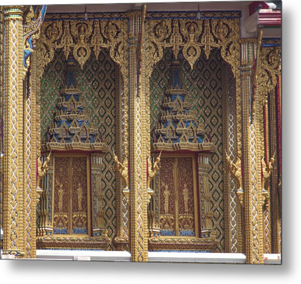 Wat Thung Setthi Ubosot Window Dthb1550 Metal Print