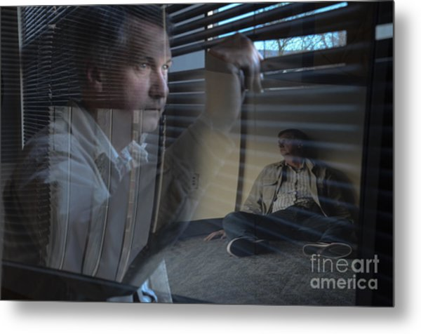 Watching Life Go By Metal Print