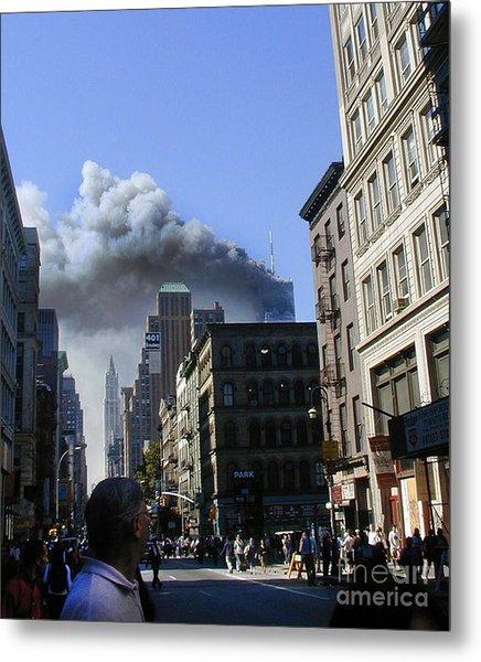 Watching North Tower Burning Metal Print