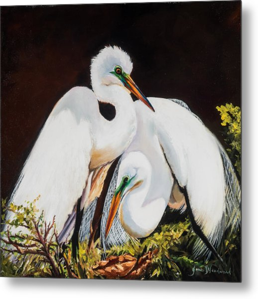 Watching Over Her Metal Print by Jane Woodward