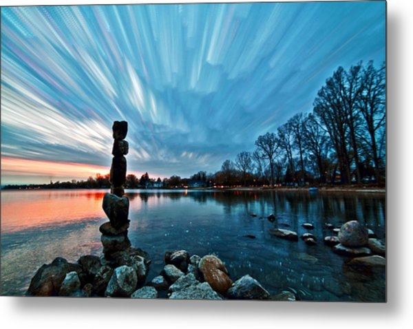Watching The Clouds Pass Metal Print