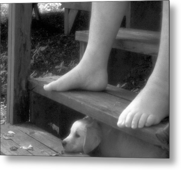Watching The River Go By Metal Print