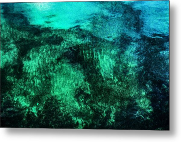 Water Abstraction Metal Print by Kim Lessel