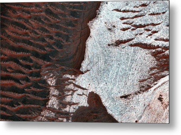 Water-bearing Rocks On Mars Metal Print