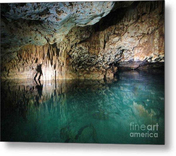 Water Cave Metal Print