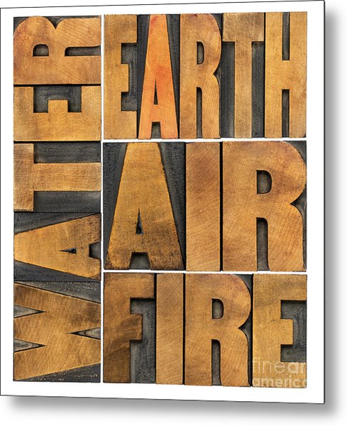 Water Earth Air And Fire Metal Print